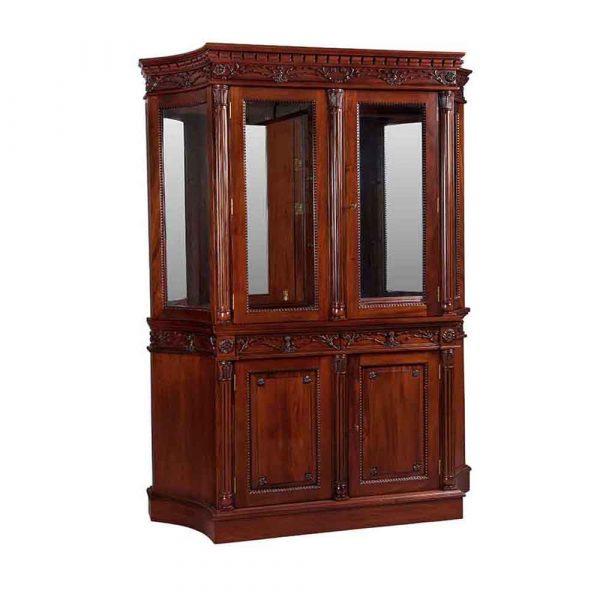 2 Door Flute Leg Bookcase