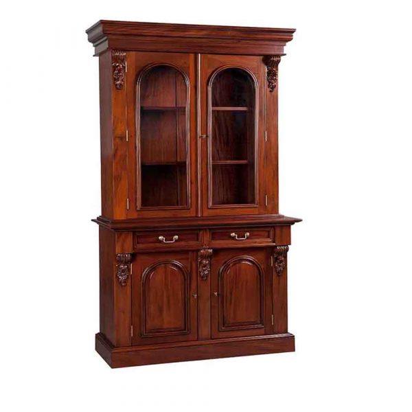 2 Door Victorian Bookcase