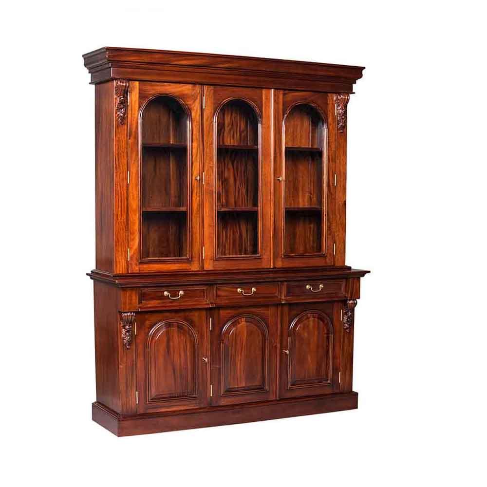 3 Door Victorian Bookcase