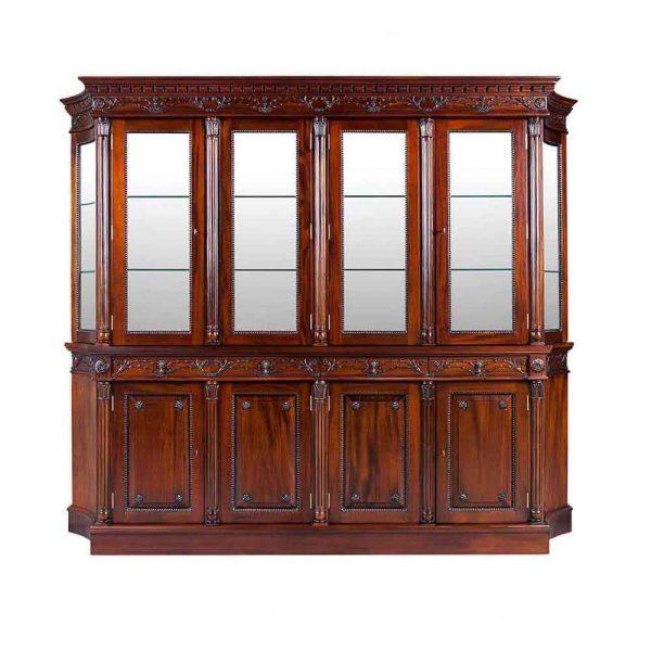 4 Door Flute Leg Bookcase Available in 2 and 3 Door
