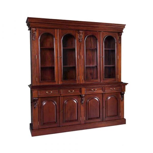 4 Door Victorian Bookcase Available in 2 and 3 Door