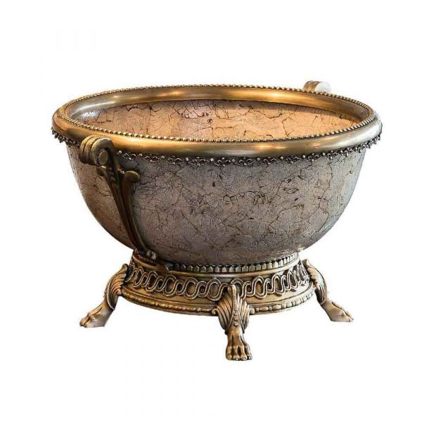 Antique Brass Crackle Bowl