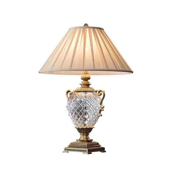 Antique Brass Crystal Lamp 2