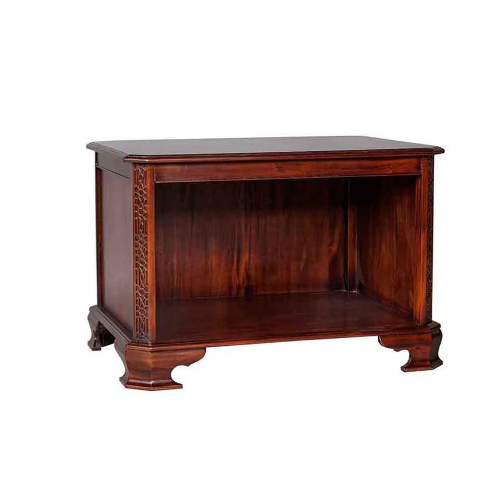 Chippendale Computer Table Solid mahogany computer table with wooden top. Price excludes leather