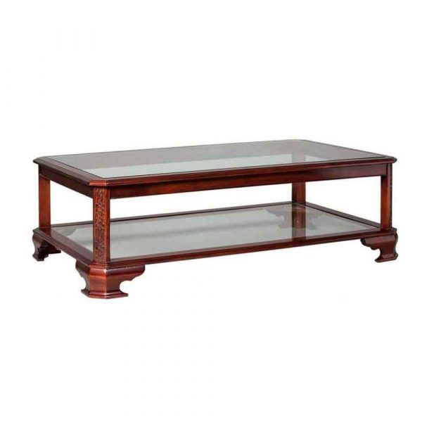 Chippendale glass top Coffee Table