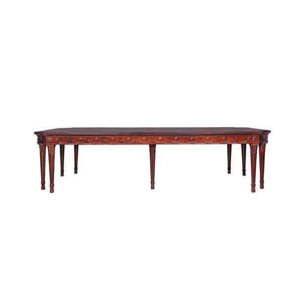 Flute Leg Dining Table Solid mahogany 3.2 meter fluted leg dining table