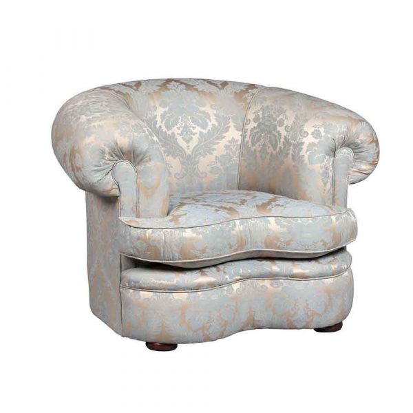 Kidney Plain Back Chair