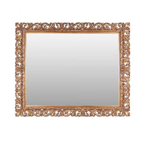 Leaf Mirror Fully Gilded