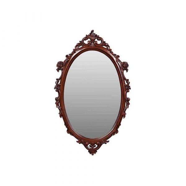 Small Carved Oval Mirror